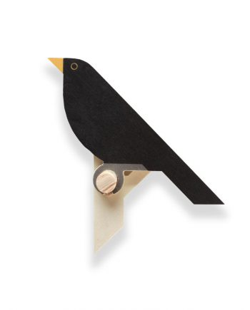 blackbird wall hook wood