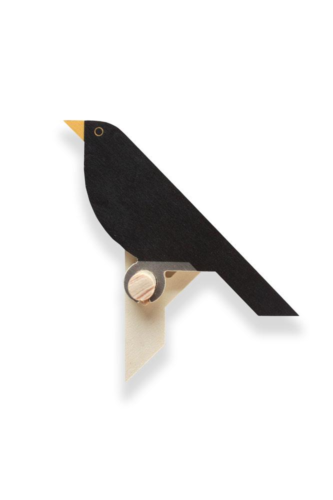 blackbird wall hook wood