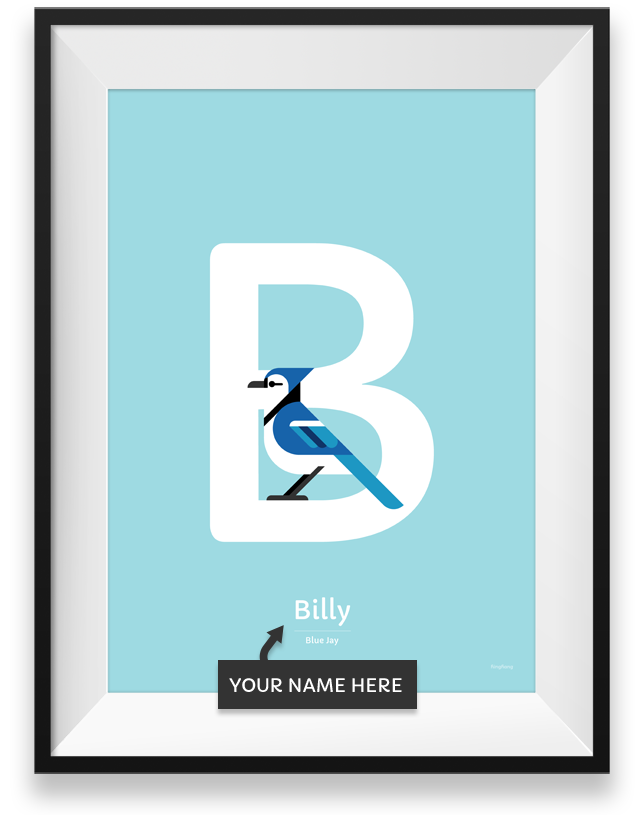 Blue Jay personalized poster