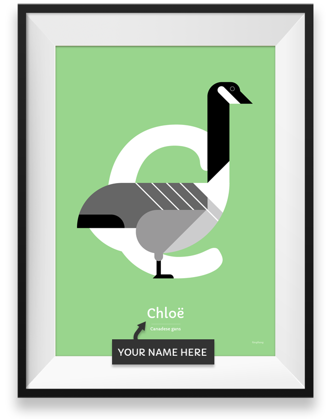 Canadese gans personalized bird poster