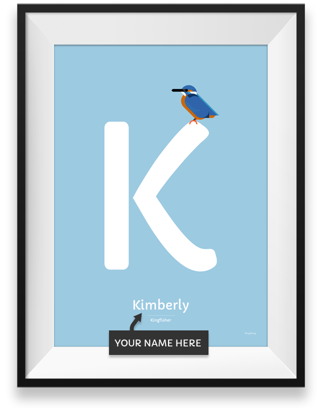 Kingfisher personalized poster