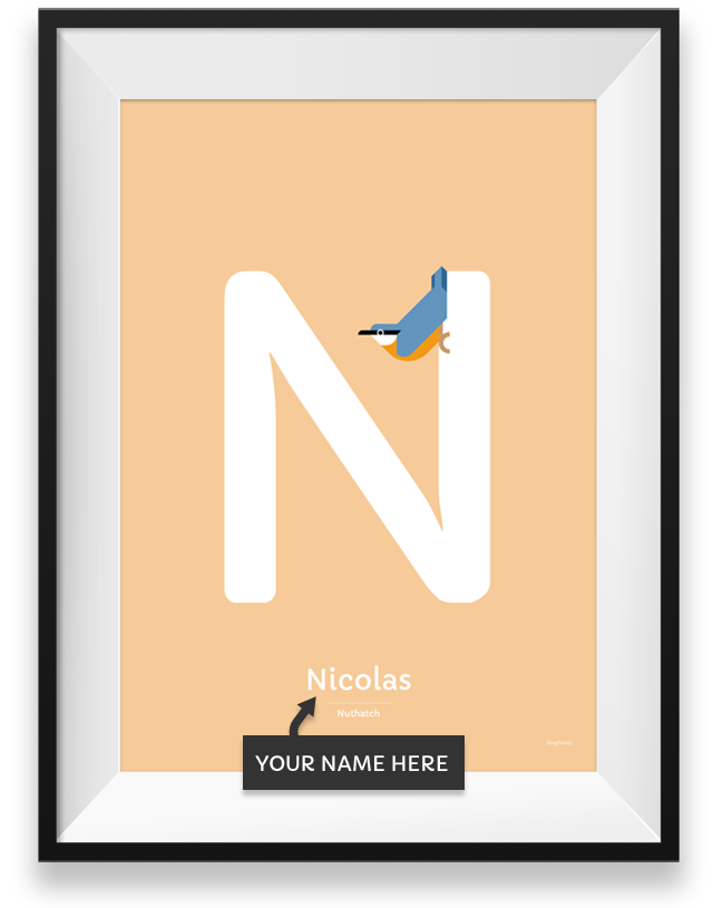 Nuthatch personalized poster