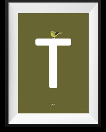 Tjiftjaf alfabet print