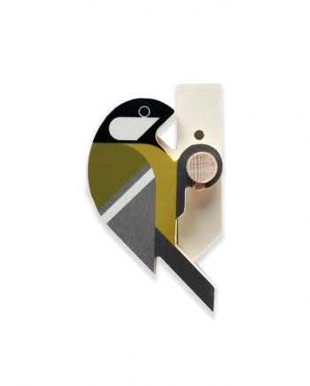 great tit wooden bird wall hook