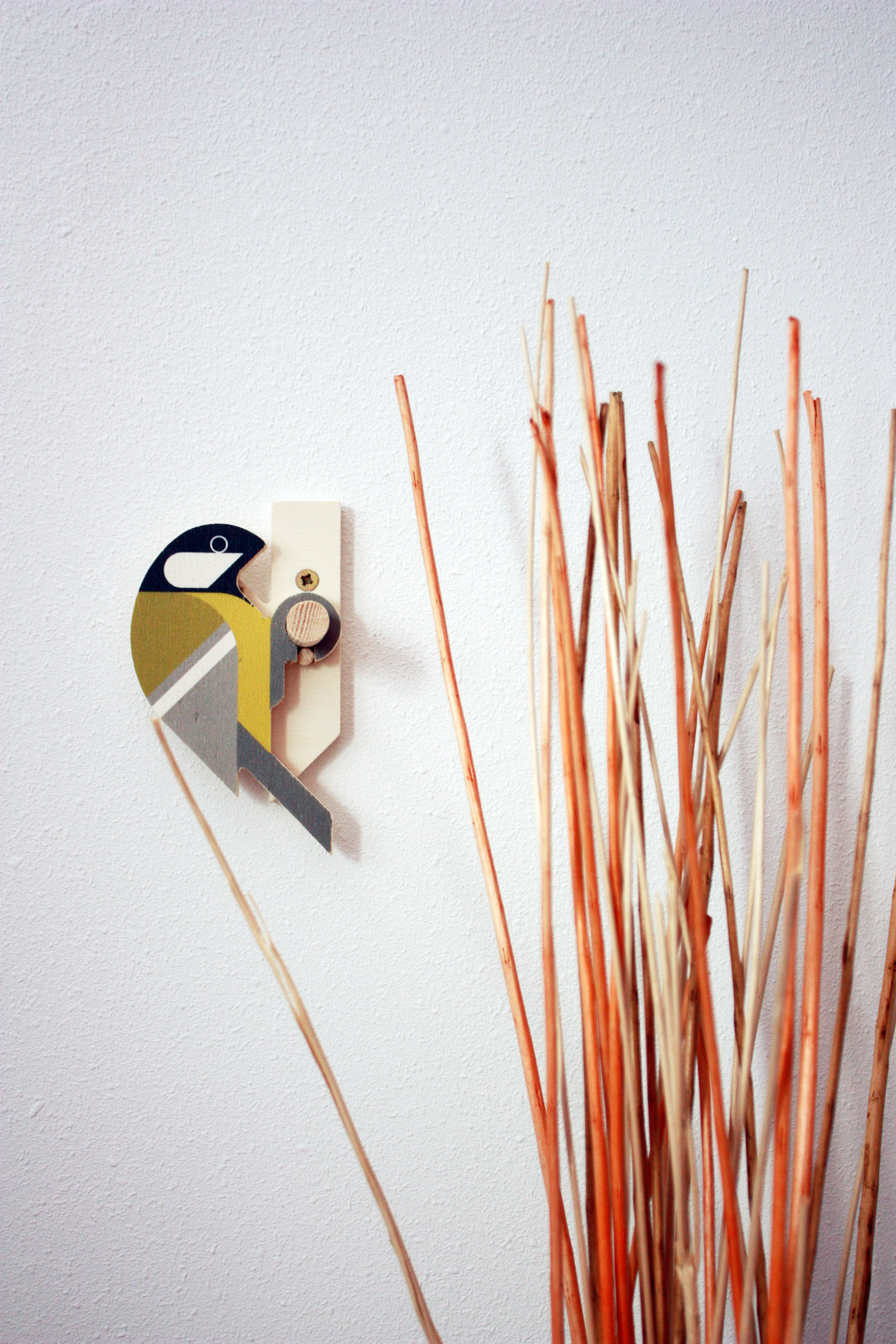 Great Tit wooden wall hook by Hinghang