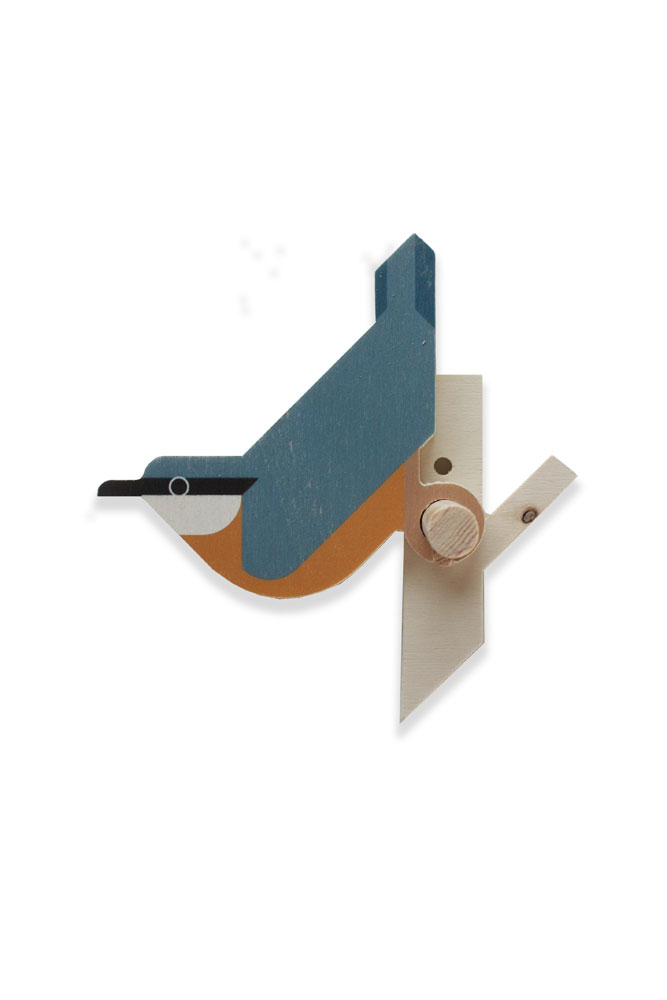 nuthatch bird wall hook