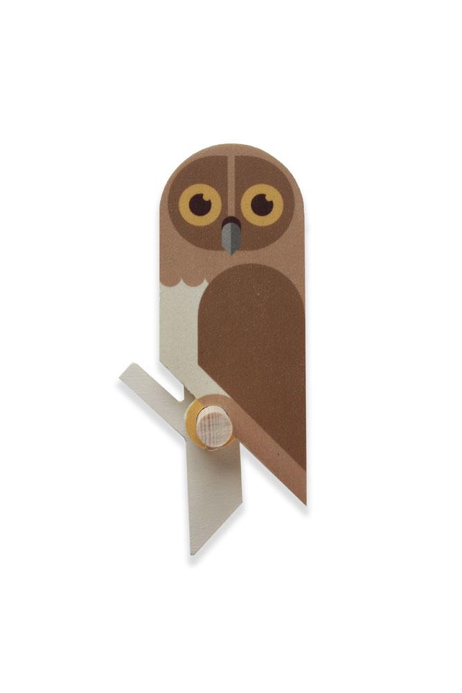 owlet wooden wallhook by Hinghang