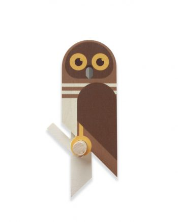 owlet wooden bird wall hook