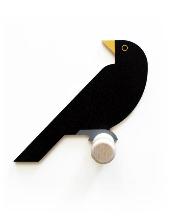 blackbird wall hook wood hinghang