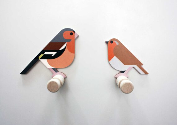 finch robin wooden wall hooks hinghang