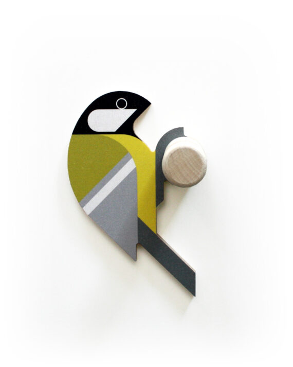 great tit wooden wall hook hinghang