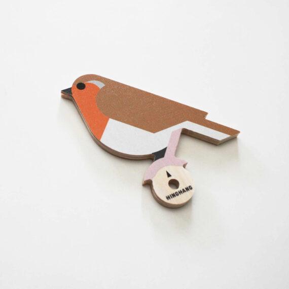 robin wooden wallhook detail hinghang