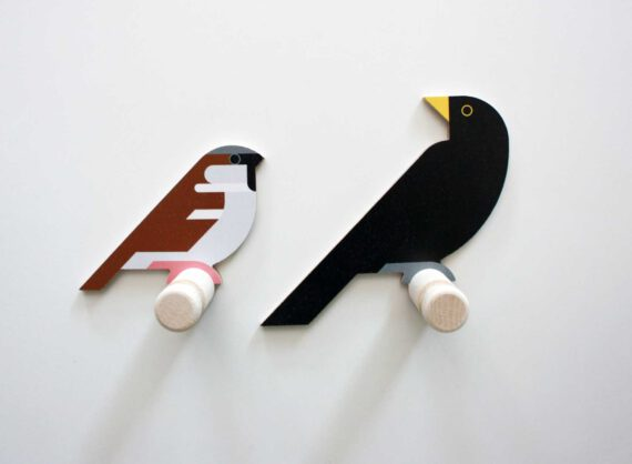 sparrow blackbird wood wall hooks hinghang
