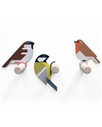 wooden bird wall hooks hinghang