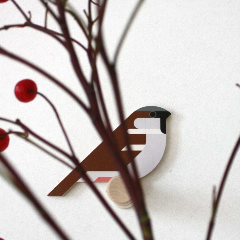 Hinghang Sparrow wallhook with berries